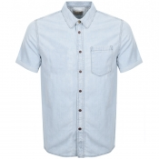 Product Image for Nudie Jeans Short Sleeved Henrik Denim Shirt Blue